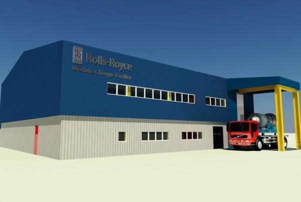 Rolls Royce Module Change Facility Exterior