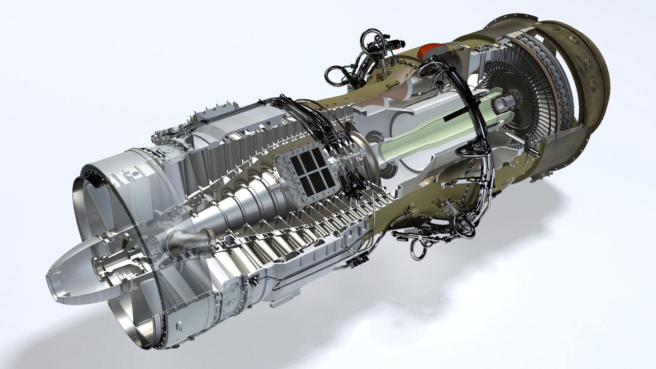 Rolls Royce Avon 200 engine cutaway