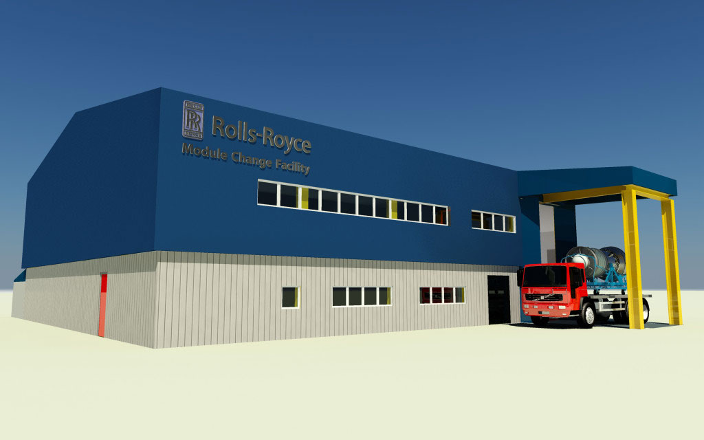 Rolls Royce Module Change Facility Exterior